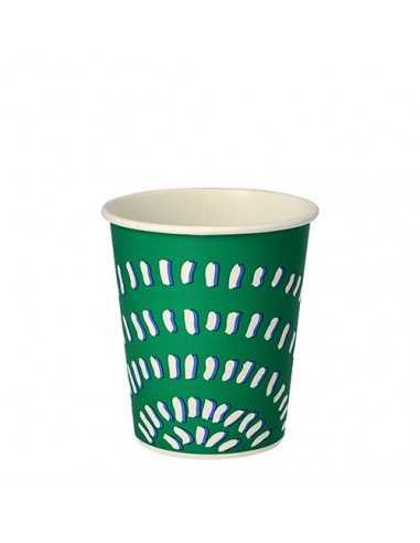 Vasos de cartón color verde para bebidas frías To Go 200 ml