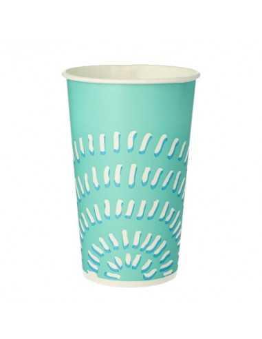 Vasos de cartón para bebidas frías To Go azul claro 400 ml