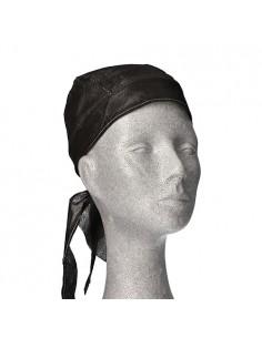 Pañuelos para cabeza desechables para cocinero color negro