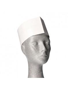 Gorros cocinero de papel blanco desechables 8,5 x 27,5cm