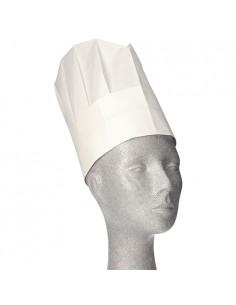 Gorros papel para cocinero ajustables color blanco 23 x 27,7 cm Provence