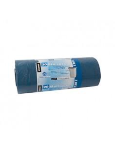 Bolsas de basura plástico LDPE reciclado color azul 120 ml