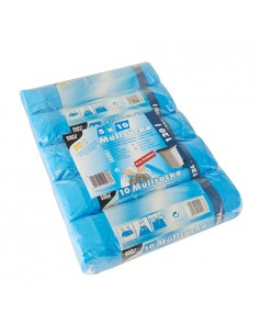 Sacos de basura plástico azul con cordón de cierre 120 litros