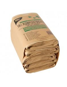 Bolsas basura orgánica papel color marrón 35 x 21 x 15 cm