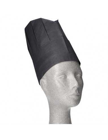 Gorros papel para cocinero ajustables color negro 23 x 27,7 cm Provence