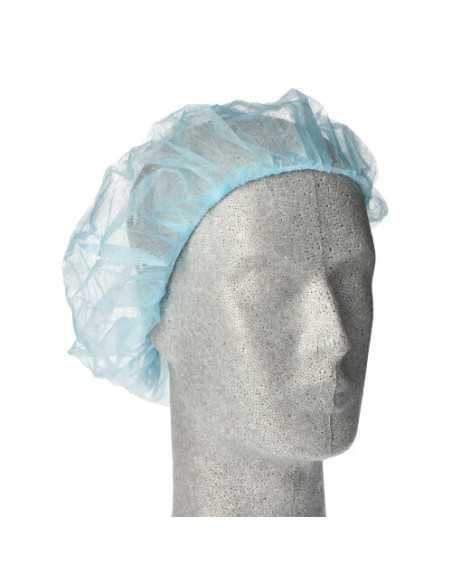 Cofias de protección cabello papel vellón azul Ø 52