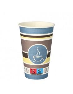 Vasos de cartón café para llevar económico decorado To Go 300ml