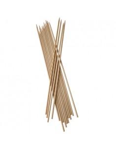Brochetas de madera extra largas 40cm x Ø5mm Pure