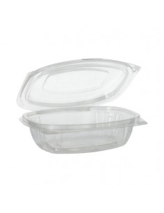 Envases tapa bisagra bioplástico PLA transparente 375 ml Pure