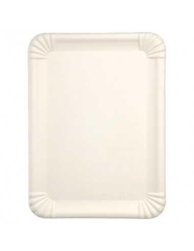Bandejas caña de azúcar color blanco 26 x 35 cm Pure