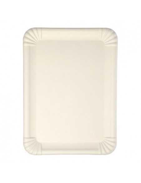 Bandejas caña de azúcar color blanco Pure 26 x 35 cm
