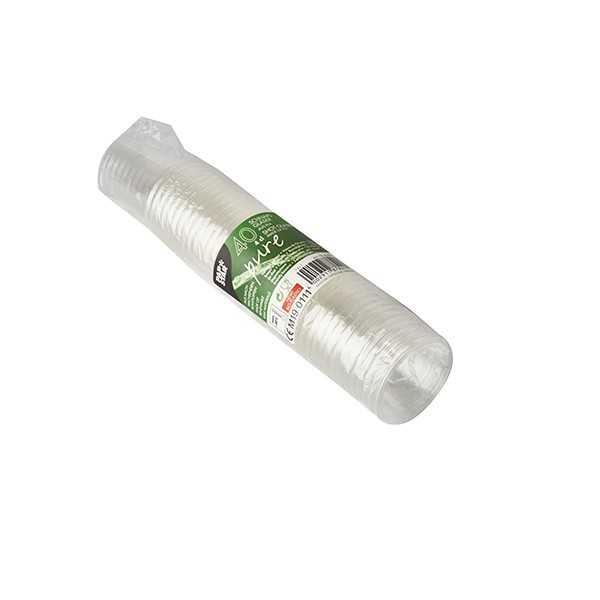 Vasos chupito compostables bioplástico PLA transparente 40ml