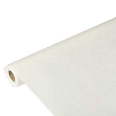 Mantel papel aspecto tela color blanco rollo 10 x 1,18 m Soft Selection