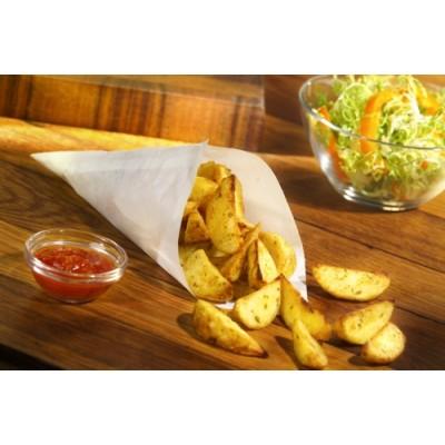 Bolsas cónicas para fritos papel antigrasa blanco 50 gr