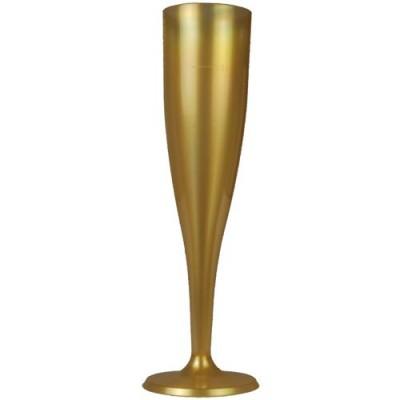 Copas cava plástico oro descartables de una sola pieza 100ml