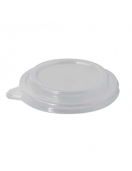 Tapas ensaladeras de plástico transparente redondas Ø 12,5 cm