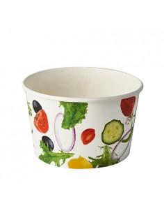 Envases para ensaladas cartón impreso Ø 12,5 cm 600ml