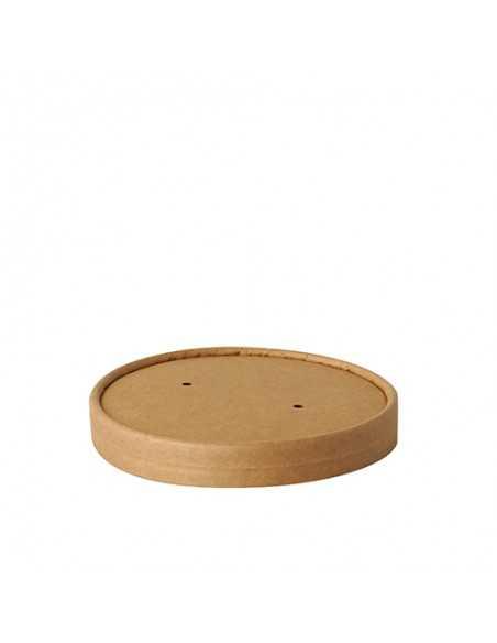 Tapas cartón marrón redondas soperas Pure 100% Fair Ø 11,5