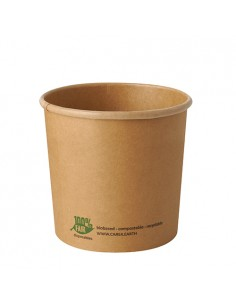 Soperas de cartón compostables color marrón 760ml Pure 100% Fair