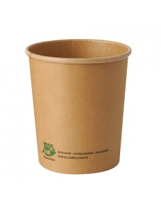 Soperas de cartón compostables color marrón 940ml Pure 100% Fair