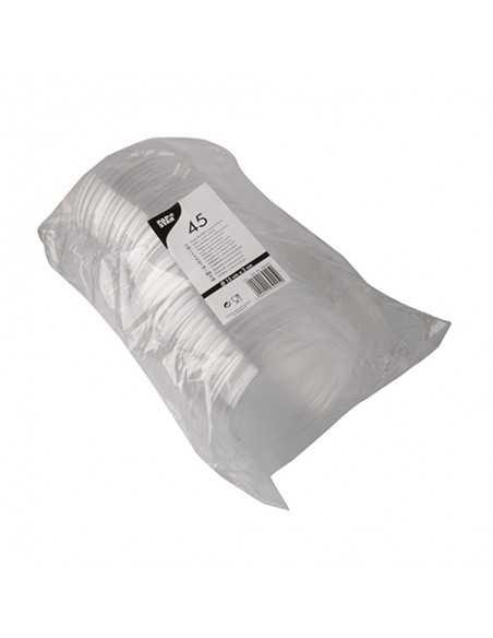 Tapas ensaladeras de plástico transparente redondas Ø 15 cm