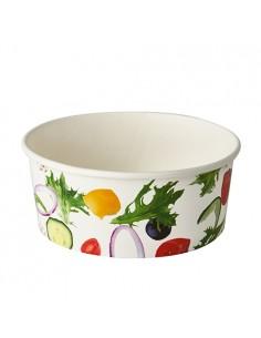 Envases para ensaladas cartón impreso Ø 15 cm 750 ml