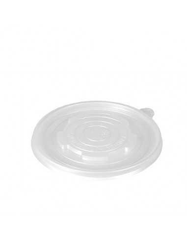 Tapas para soperas cartón en plástico transparente Ø 11cm