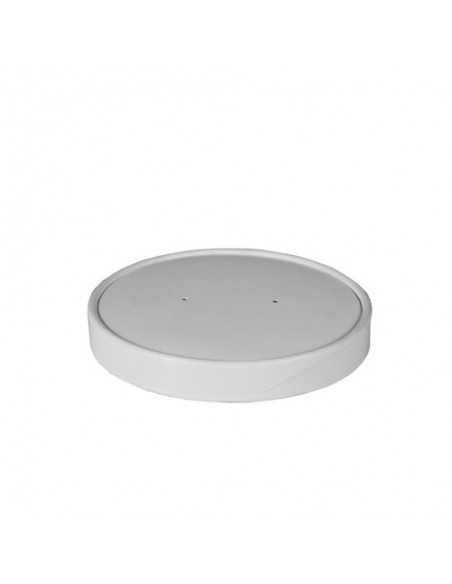Tapas para soperas cartón blanco Ø 9,9 cm