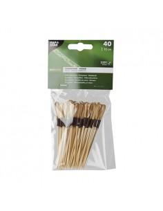 Pinchos brocheta decorativos madera bambú 10 cm modelo Loop