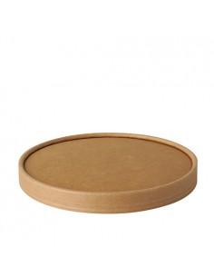 Tapas ensaladera cartón marrón redondas Ø 15cm Pure