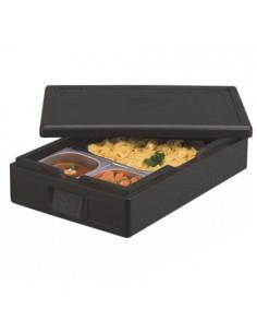 Caja Isotérmica Gastro-Norm Transporte Alimentos 60 x 40 x 18 cm Color Negro