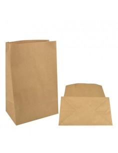 Bolsas de papel kraft marón sin asas 29,5 x 19 x 12 cm