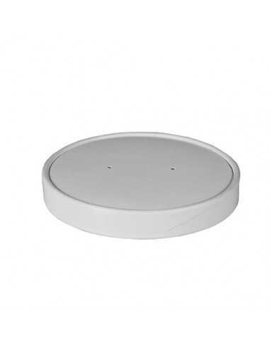 Tapas para soperas cartón blanco Ø 11,8 cm