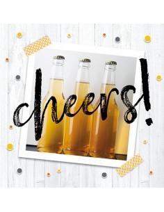 Servilletas papel decoradas cerveza impresión fotográfica 33 x 33 cm