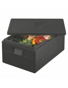 Caja de transporte isotérmica Gastro-Norm de color negro 79 Litros