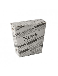 Cajas cartón para fritos decorada Newsprint 1200 ml