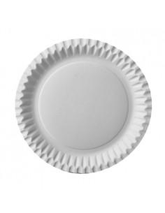50 Platos de Cartón Redondos Color Blanco Ø 23 cm