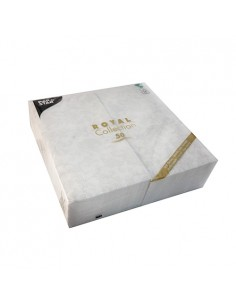 Servilletas papel decoradas Royal Collection 48 x 48 cm Blanco Ornaments