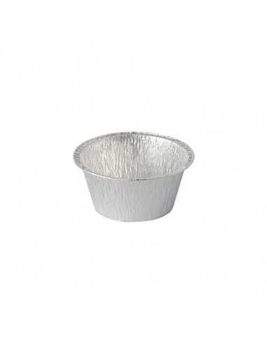 Tarrinas de aluminio redondas para hornear 120ml