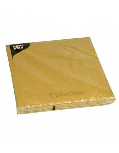 Servilletas de papel color dorado 3 capas 40 x 40 cm