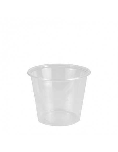 Salseras Plástico PP Transparente Redondas 125 ml