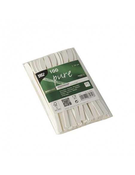 Removedores de papel color blanco 14 cm Pure