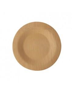Platos de bambú redondos compostables Pure Ø 18 cm