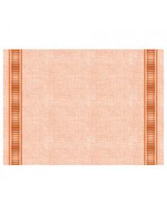 Mantelitos individuales papel aspecto tela color naranja Gourmet 30 x 40 cm Soft Selection Plus