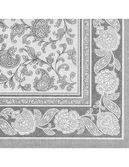 50 Servilletas 40 x 40 cm Color Gris Royal Collection Ornaments
