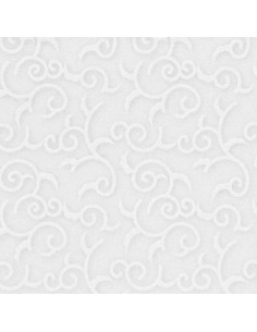 Servilletas papel decoradas blanco 40 x 40 cm Royal Collection Casali