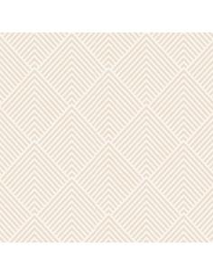 Servilletas de papel decoradas color champan 40 x 40 cm Royal Collection Elegance