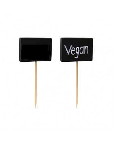 Pinchos madera decorativos pizarra negra 8,5 cm Blackboard