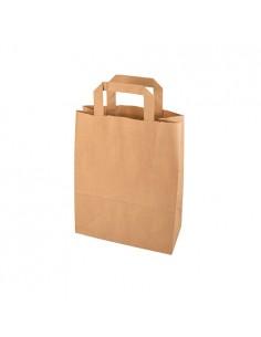 Bolsas con asa papel Kraft marrón 28 x 22 x 10cm