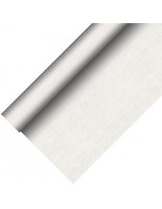 Mantel Aspecto Tela PV Tisú Mix Royal Collection Plus Blanco 20 x 1,18 m Papstar 85771